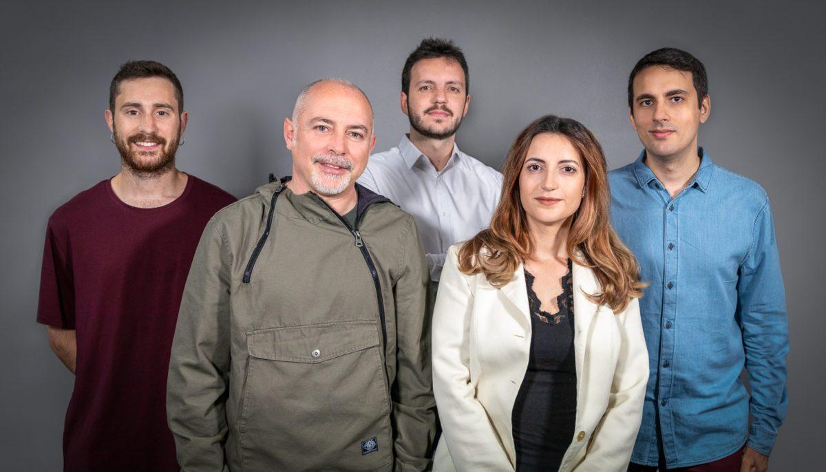 Equipo de AMPERSOUND Translate Media: Javier Rebollo, José Antonio Meca, Juan Yborra, Eugenia Arrés y Fernando Castillo.