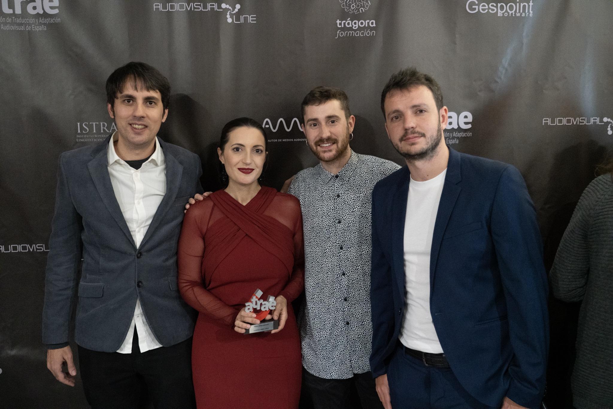 Eugenia Arrés con AMPERSOUND en los VII Premios ATRAE