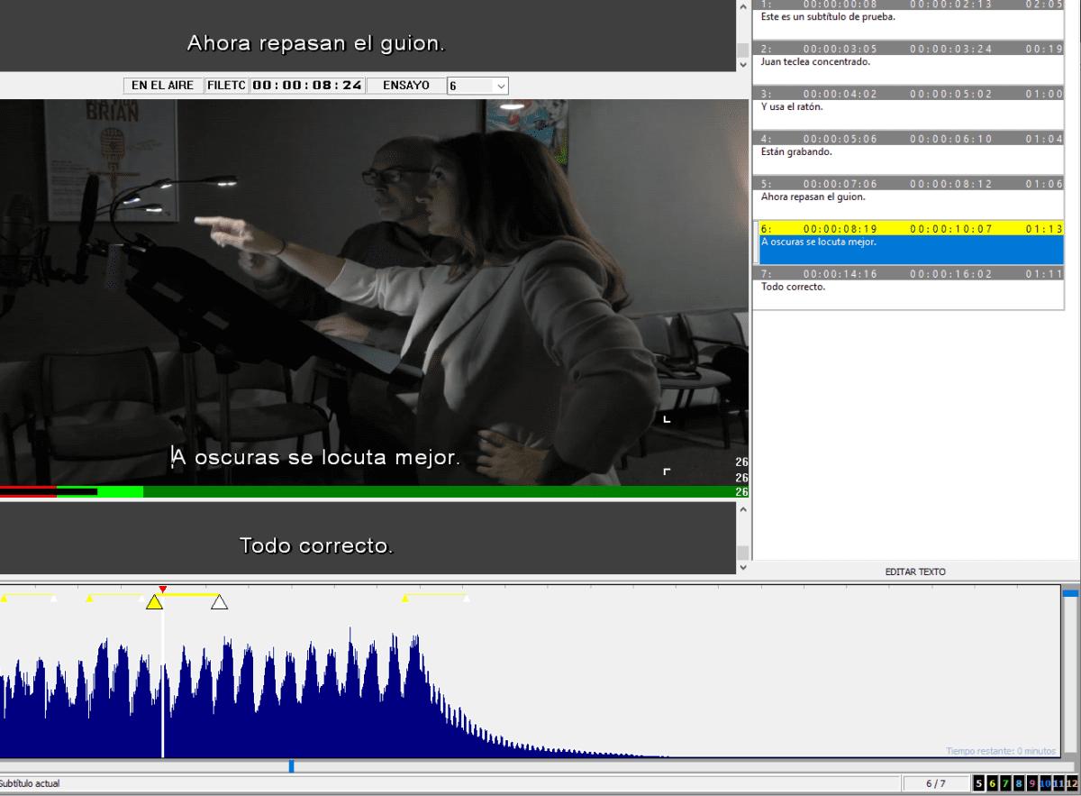 Software de subtitulación profesional.