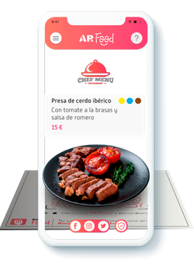 Aplicación AR Food