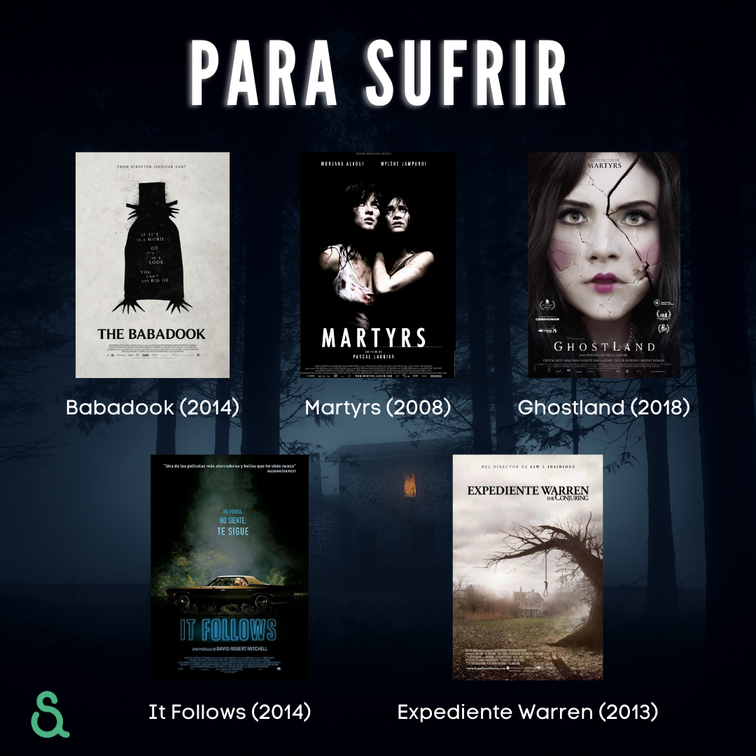 Películas para sufrir: Babadook, Martyrs, Ghostland, It Follows, Expediente Warren.